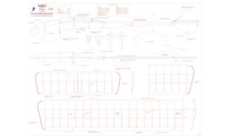 Nord 2 model airplane plan