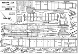Nordec Aeropiccola model airplane plan