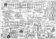 North American O-47 2 model airplane plan