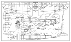 North American O-47 model airplane plan