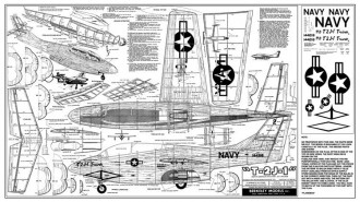 North American T-2J-1 Trainer model airplane plan