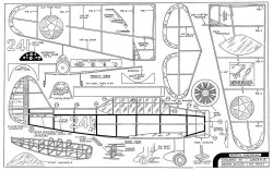 North American model airplane plan