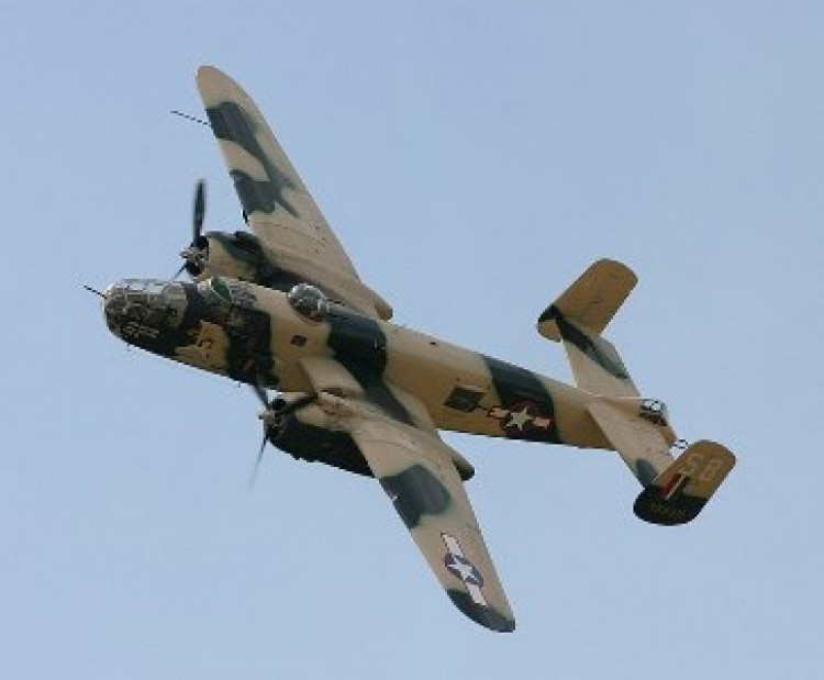 North American B-25 model airplane plan