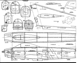 North American F86A Sabre 1 model airplane plan