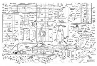 North American NA-300 model airplane plan