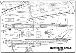 Northern Eagle 58in model airplane plan