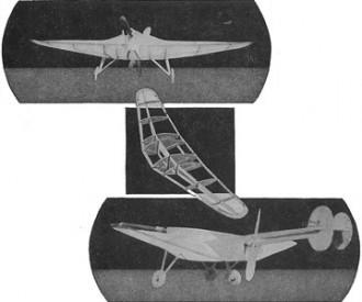 Northrop Avion Flying Wing model airplane plan