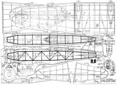 Northrop Gamma 36in model airplane plan