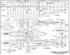Northrop P-61 model airplane plan
