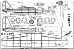 Northrop Pursuit Megow 1935 model airplane plan