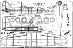 Northrop Pursuit Megow 1935 model airplane plan