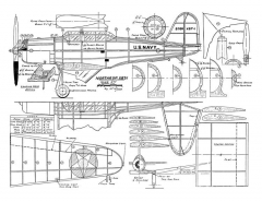 Northrop XBT-1 model airplane plan