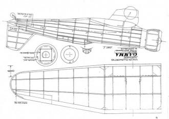 Northrup Gamma model airplane plan
