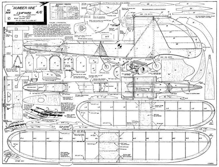 Number Nine model airplane plan