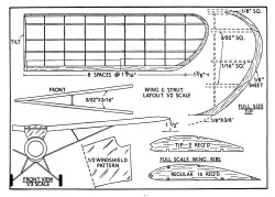 O-49 4 model airplane plan