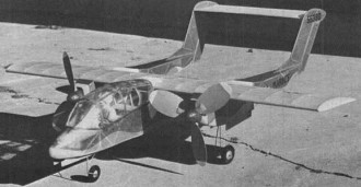 OV-10A Bronco model airplane plan
