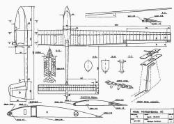Ogar Motoszybowca model airplane plan