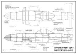 Yokosuka MXY7 Ohka model airplane plan