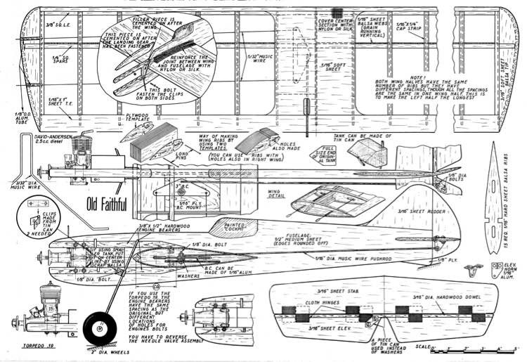 Old Faithful model airplane plan