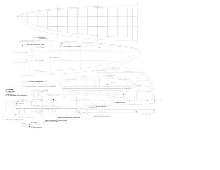 Old School model airplane plan