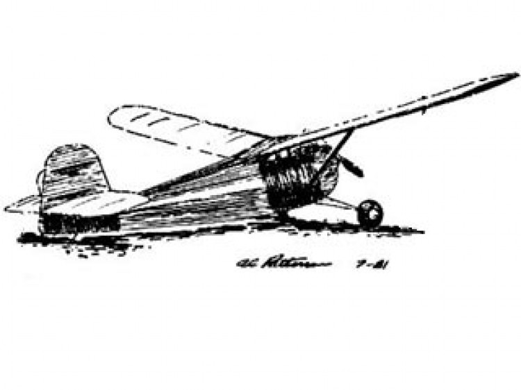 Old Square Sides model airplane plan