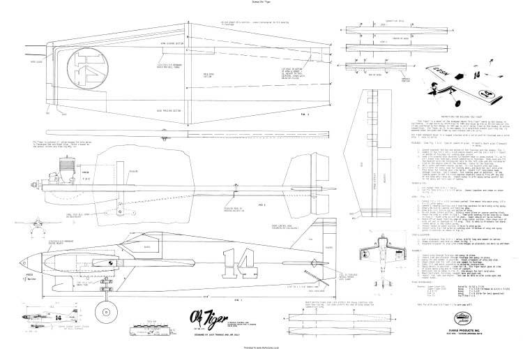 Ole Tiger 2 model airplane plan