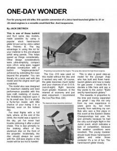OneDayWonder model airplane plan