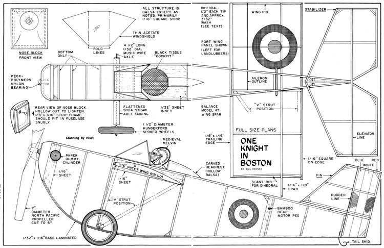 One Knight in Boston model airplane plan