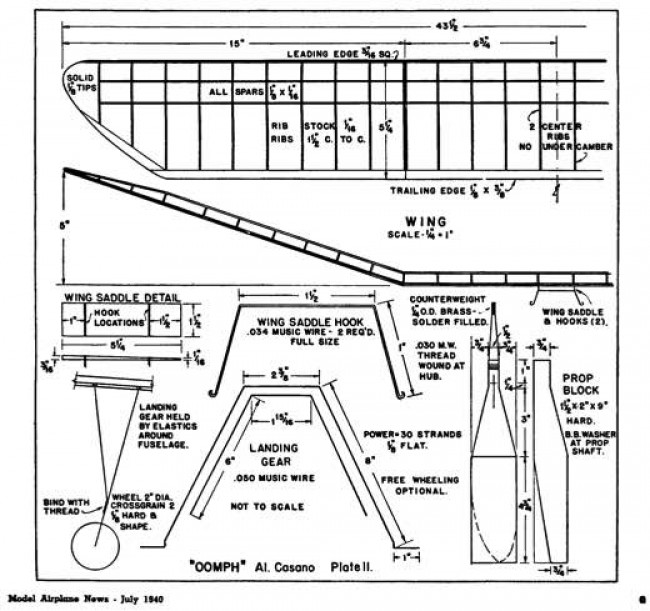Oomph p2 model airplane plan