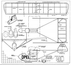 Opel-Hatry model airplane plan