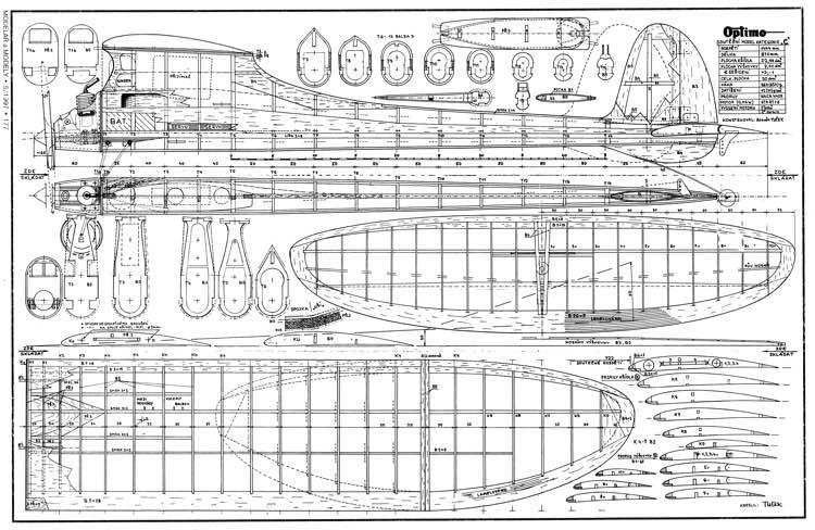 Optimo model airplane plan