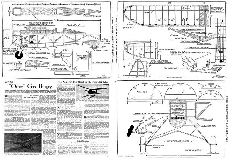 Orbit model airplane plan