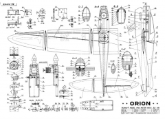 Orion CL Team model airplane plan