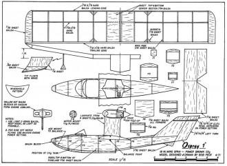 """Osprey I"" model airplane plan"