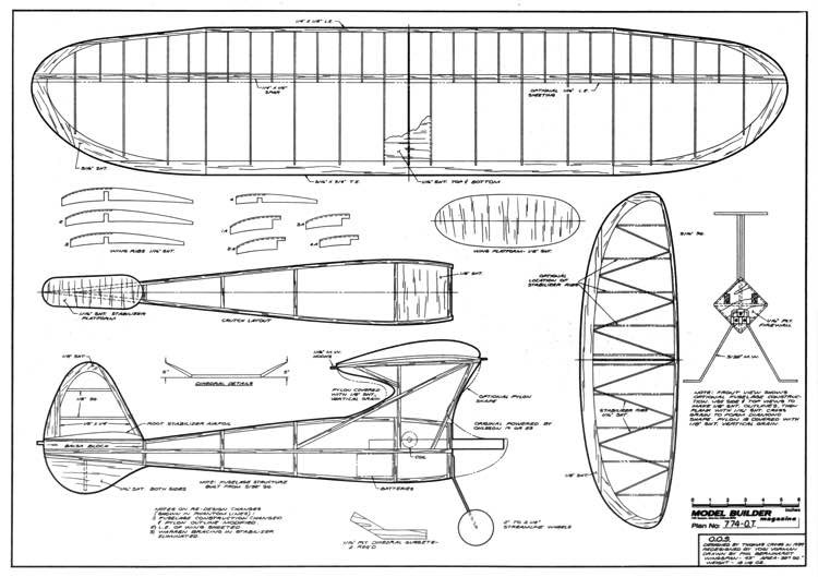 Out O Sight (OOS) model airplane plan