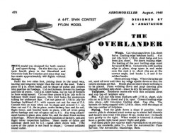 Overlander 72in model airplane plan