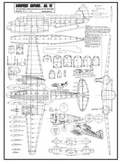 Airspeed AS.10 Oxford model airplane plan