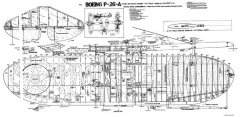 P-26A model airplane plan