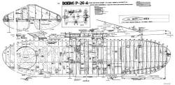 P-26A model airplane plan