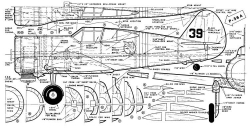 P-36A Mohawk model airplane plan