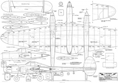 P-38 Lightning CL 56in model airplane plan