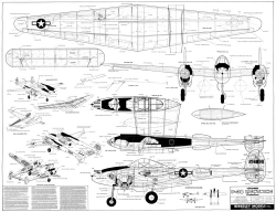 P-38 Lightning CL Berkeley model airplane plan