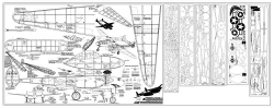 P-38 comet model airplane plan