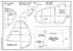 P-39-4 model airplane plan
