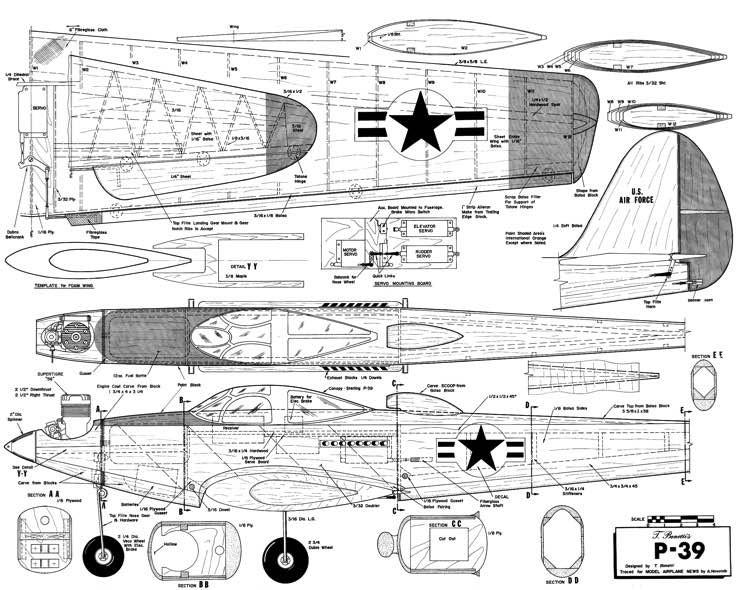 P-39-MAN-02-66 model airplane plan
