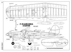 P-39 Aircobra Stunter-FM-08-68 model airplane plan