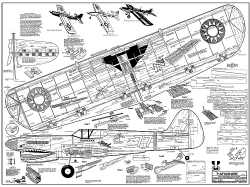 P-40 Warhawk model airplane plan