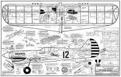 P-40 Warhawk CL model airplane plan