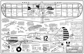 P-40 Warhawk CL Midwest kit 242 model airplane plan
