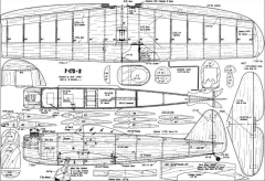 P-47D model airplane plan